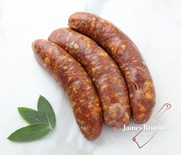 House Made Italian Hot Pork Sausage (Price per 250g, Approx 8 per Kg)