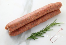 House Made Honey Lamb and Basil Sausages (Price per 250g, Approx 12 per Kg)