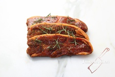Mint and Rosemary Marinated Lamb Ribs (Price per 250g, Approx 8 per Kg)